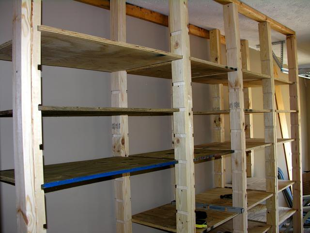 how to build garage shelves contractor quotes. Black Bedroom Furniture Sets. Home Design Ideas