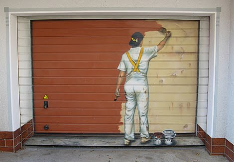 How to paint a garage door contractor quotes for Garage man door