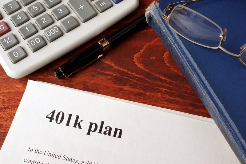 401k plan lying on table