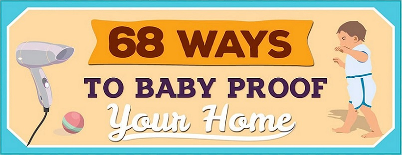 Top of infographic on how to baby proof your home