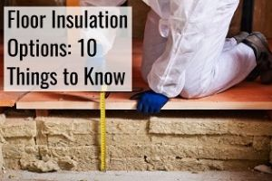 floor insulation options