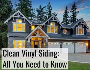 clean vinyl siding