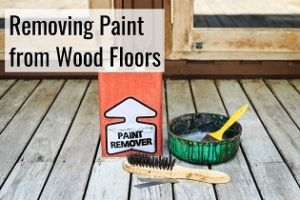 removing paint from wood floors