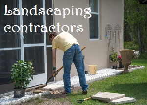 man doing the landscaping