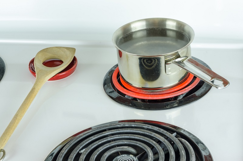 cleaning an electric burner