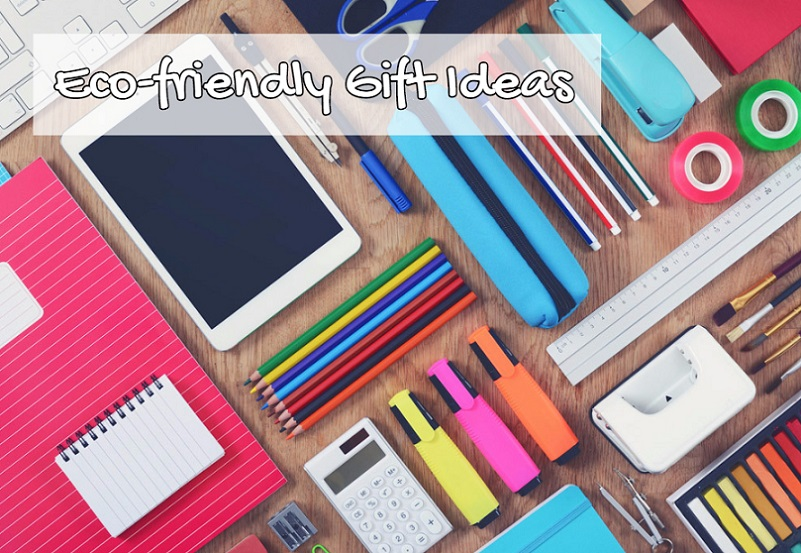 Office supplies on a table