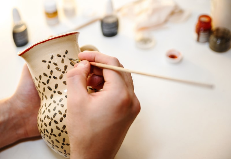 Ceramic being painted