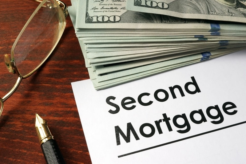 Second mortgage written on a piece of paper