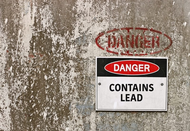 Lead Paint Disclosure on a wall