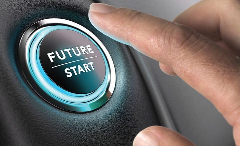 button that says future