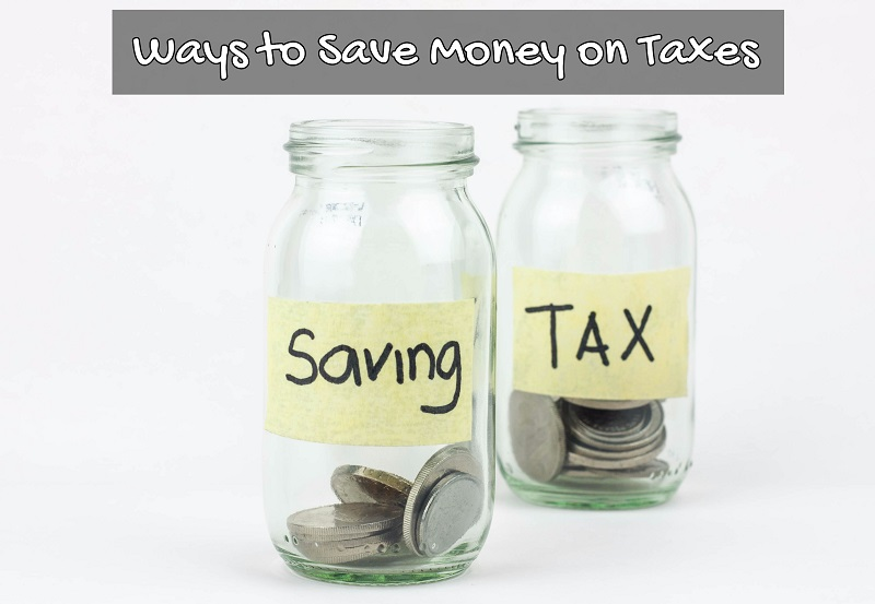 Glass jars with the words saving and tax on them