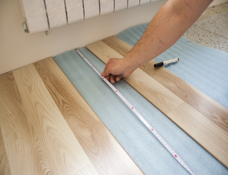 Floor being measured
