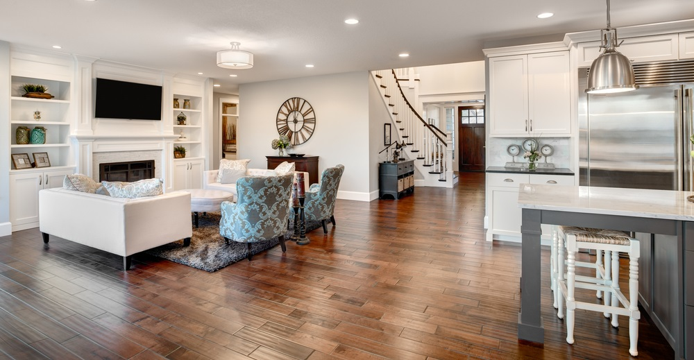 Hardwood in a home