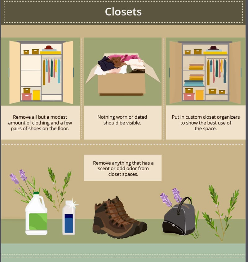 closet staging tips