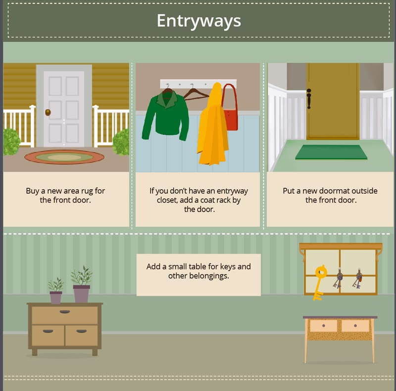 entryway staging tips