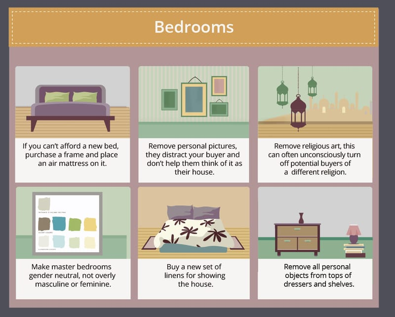 bedroom home staging tips