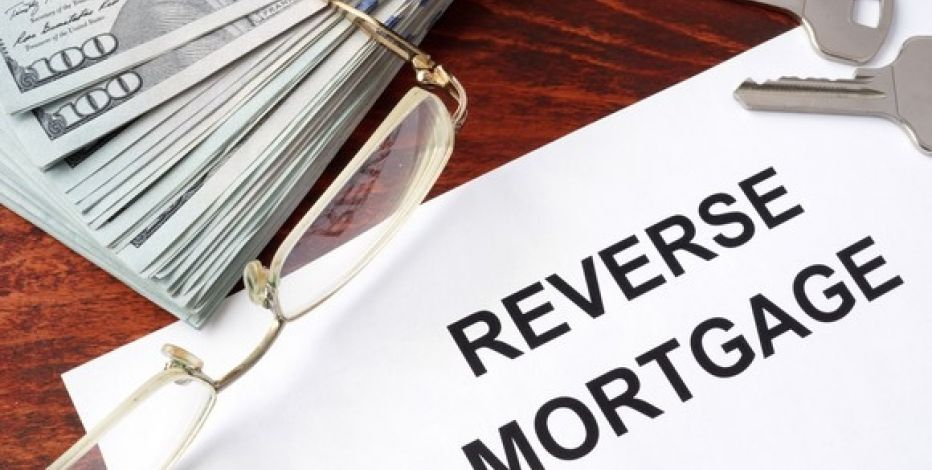 Paper that says reverse mortgage on it
