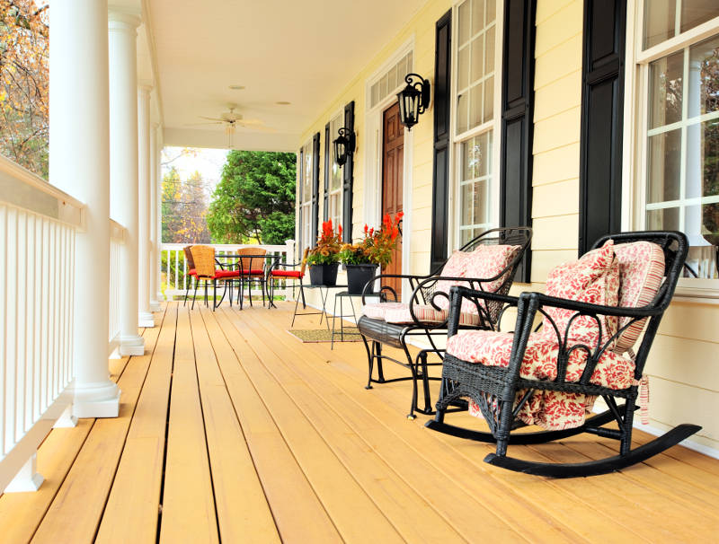 decorating a porch