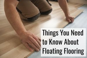 floating floor being installed