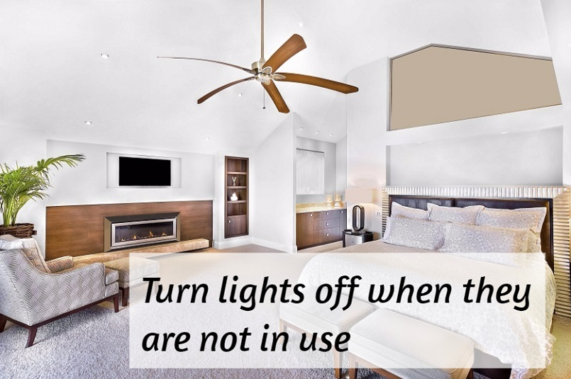 save electricity with the lights in your home