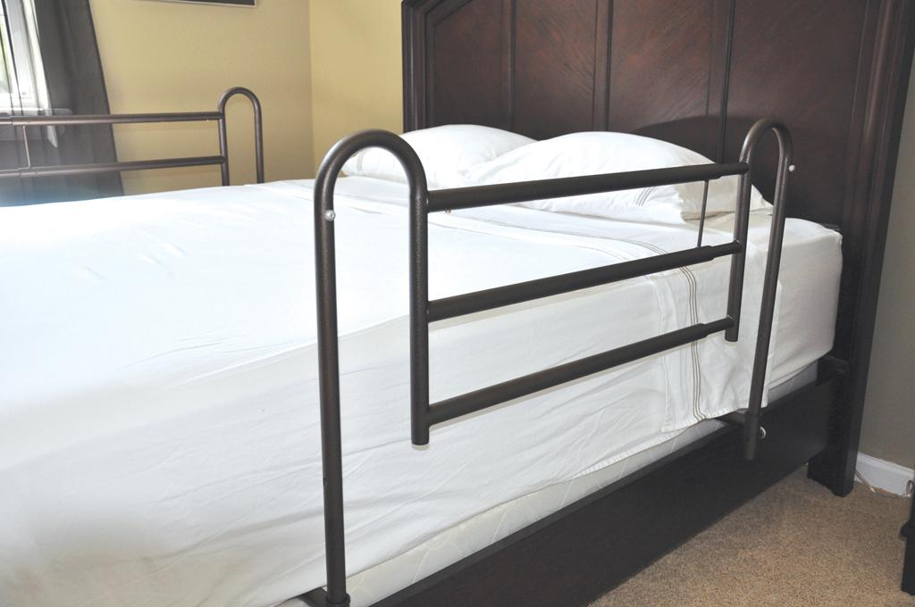Safety Bed Rails on a bed