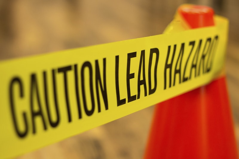 Warning of lead hazard