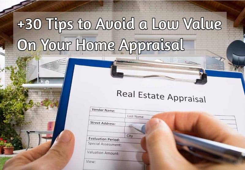 real estate appraisal sheet held up