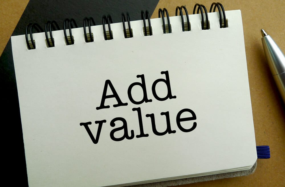 note block saying add value