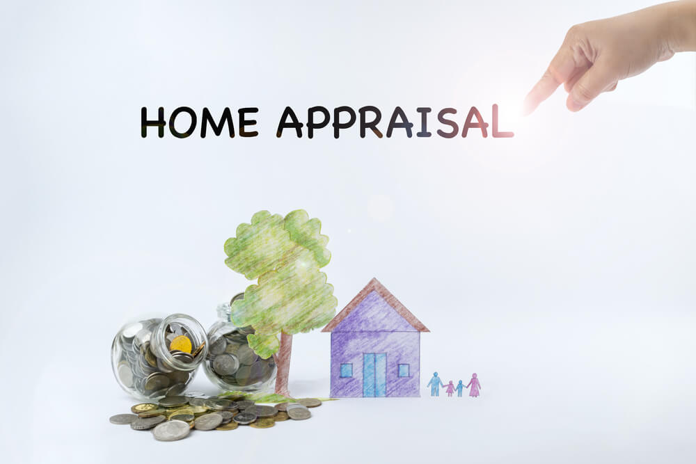 Home appraisal written on white background