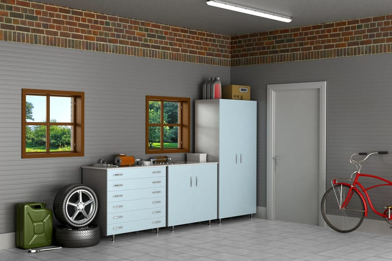 3d animation of a garage
