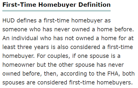 definition of a first-time home buyer