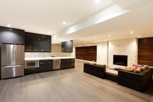 kitchen and basement in one
