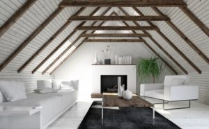 stylish white attic