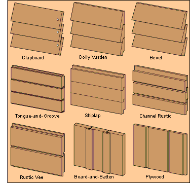 Different siding styles