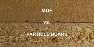 MDF and particle board
