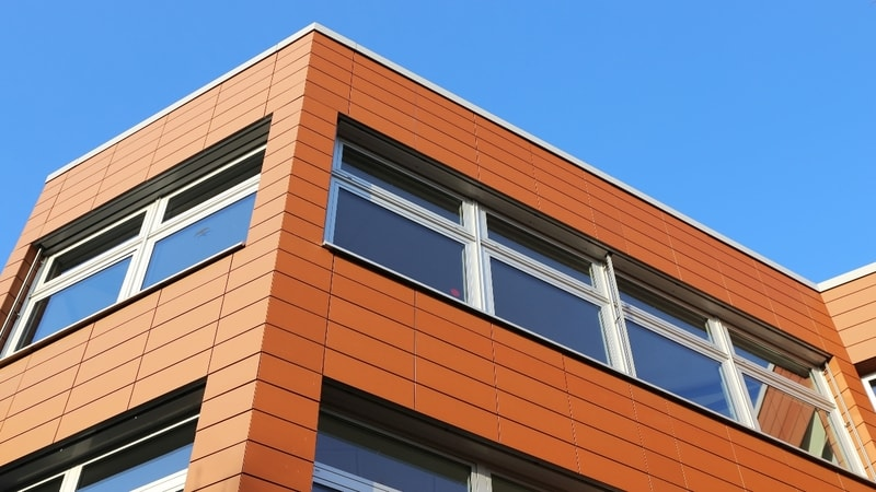 fiber cement panels on a building