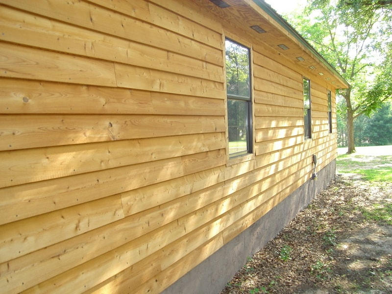 wooden lap siding