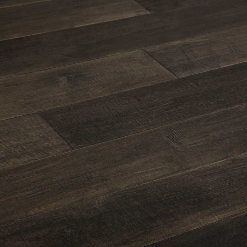 Dark maple floor
