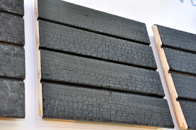 channel gap charred wood siding