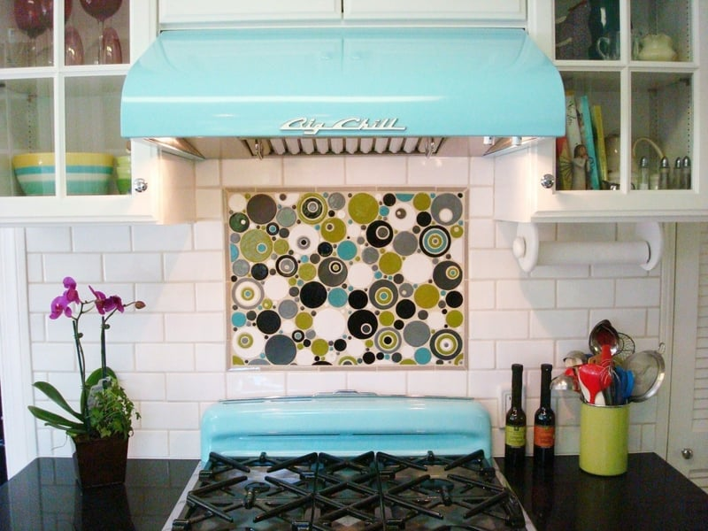 retro backsplash