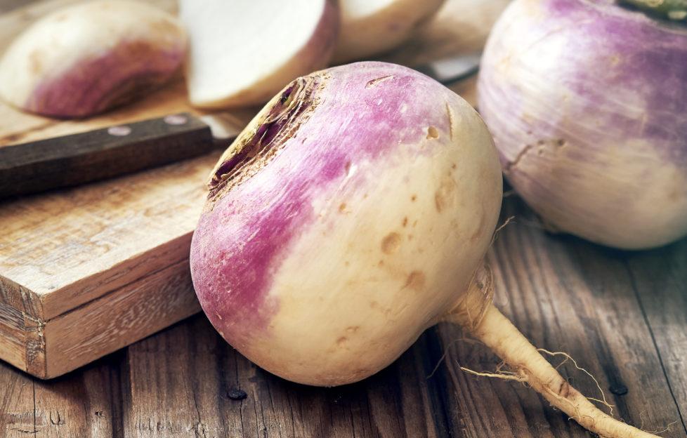 turnips on a chopping board