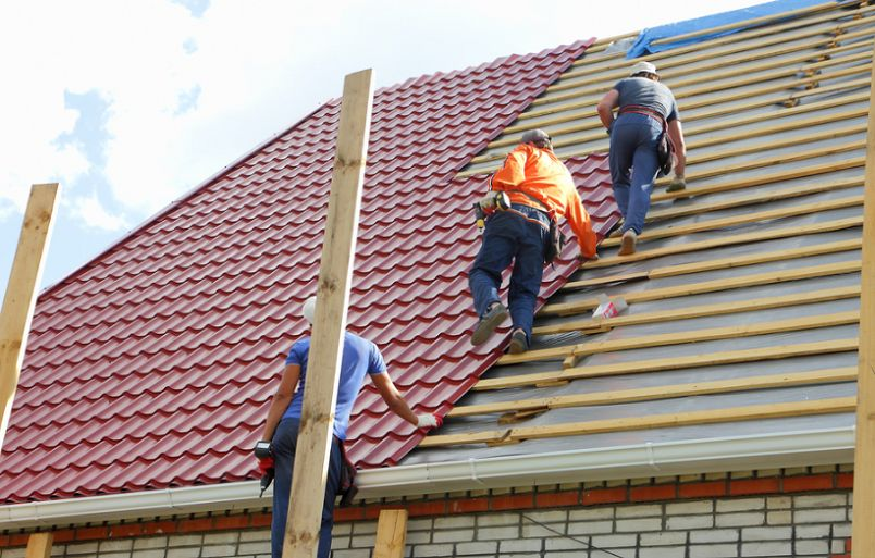 contractors working on a roof
