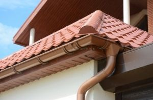new gutters on a roof
