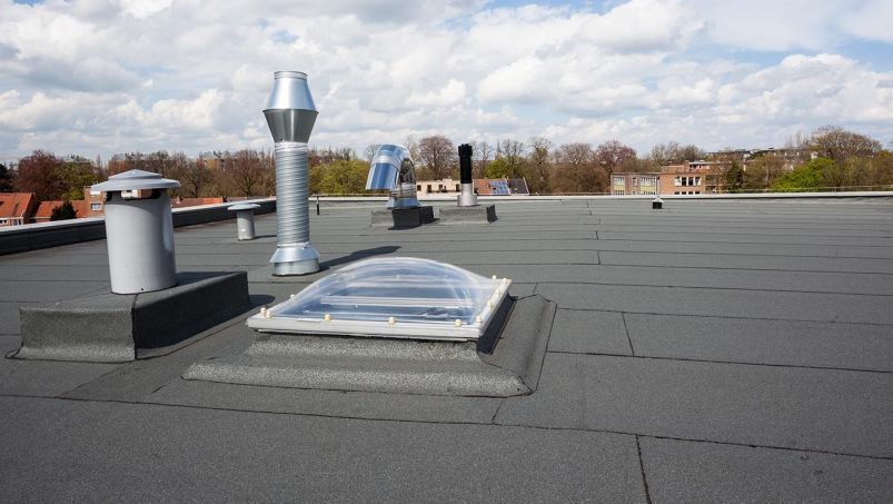 roof vents on a flat roof