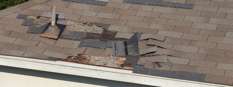 blown off roof shingles