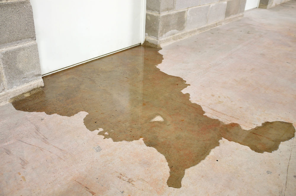 water on a basement floor